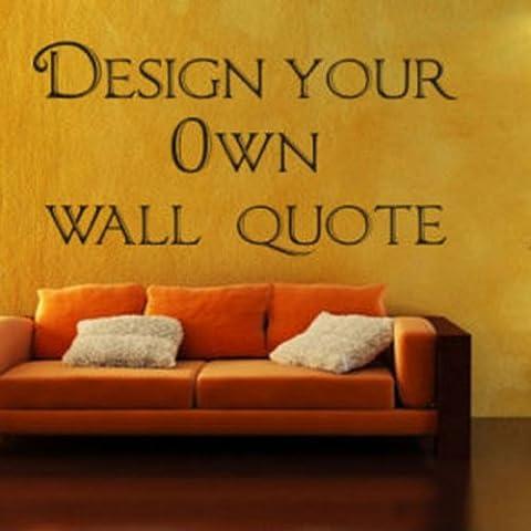 Windsor Designers - Adesivo da parete in 3 misure, con citazione, personalizzabile, nero, M misura (Windsor Testa)