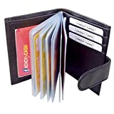 #3: Pellcaso Black Credit Card Holder for 15 Cards