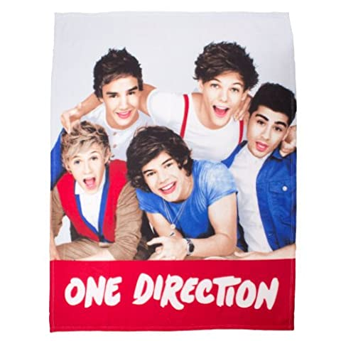 One Direction Craze Panel Fleece blanket bed throw by Trademark
