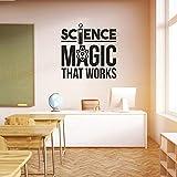 ganlanshu School Magic Science Vinilo Etiqueta de la Pared Decoración del Aula Kindergarten Etiqueta de la Pared Decoración del Dormitorio 30cmx30cm