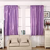 AIHOME Thermal Insulated Top Eyelet Blackout Curtains Polyester Blend for Bedroom Living Room Balcony Lightpurple