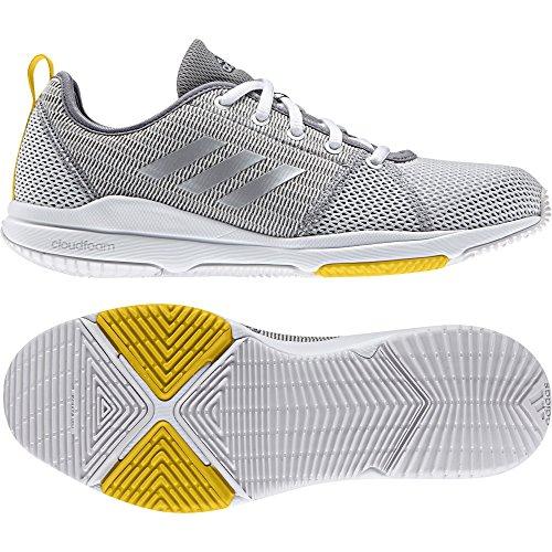 adidas Arianna Cloudfoam, Chaussures de Running Compétition Femme Gris (Grey One/silver Metallic/eqt Yellow)