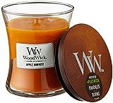 Woodwick Apfelernte Sanduhrformige Duftkerze, 275 g, Glas, Orange/Durchsichtig,...