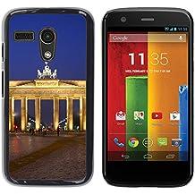 Graphic4You Berlin Allemagne Postal Postales Diseño Carcasa Funda Rigida para Motorola Moto G