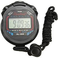 OUTERDO Chronomètre de Sport, Chronomètre Multifonctionnel Digital Chronomètre de Poche Montre à Main LCD Compteur Horloge