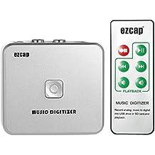 Docooler Ezcap Audio Capture Recorder Digitizzatore Musicale con Porte da 3,5 mm e RCA IN Salva nel Disco USB della Scheda SD Come file MP3 Con Telecomando