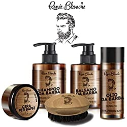 Kit de produits de traitement Renee B. pour barbe avec shampooing, soin, huile et cire