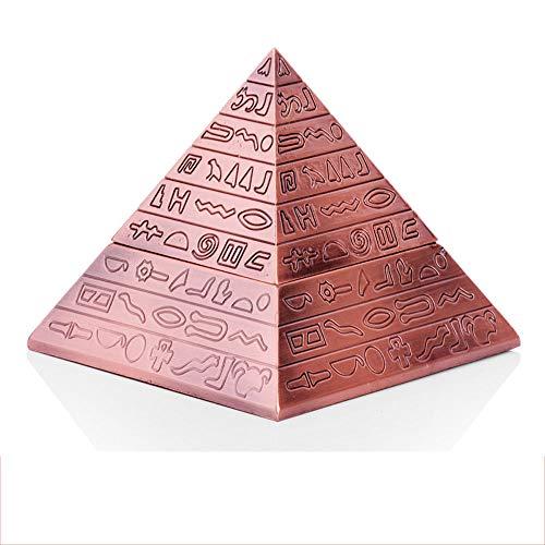 LCTYHG Retro Pyramid Cigar Ashtray con Tapa