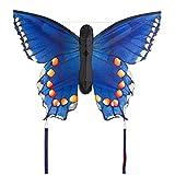 Invento 106547 - Butterfly Kite Swallowtail L Kinderdrachen Einleiner, Ab 5 Jahren, 80 x 130 cm und 2 x 6 m Drachenschwanz Ripstop-Polyester 2-5 Beaufort, blau