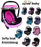 Sweet Baby ** SOFTY PROTECT CITI ** Kuschelig weicher und dick gepolsterter ERSATZBEZUG für Maxi Cosi CITI (Rosa/Schwarz)