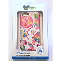 Disney D-tech World WDW Parks Authentic Mickey Mouse 2 Pc Hybrid Love Hearts Flowers Brights Iphone 5 Phone Hard Case & Screen Guard Cleaning Cloth
