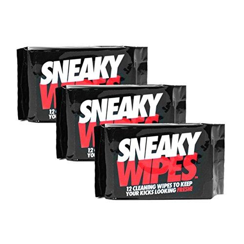Toallitas Sneaky para limpiar los zapatos y zapatillas. 3paquetesde36toallitas.