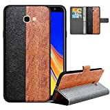 LFDZ Compatible with Samsung J4 Plus Case, PU Leather J4