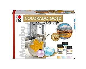 Marabu 1264000000081metálico de Efecto Colores Colorado Oro Set, Casual Loft de Style