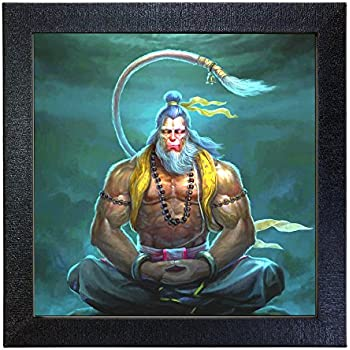 Sehaz Artworks 'Lord Hanuman' Wall Photo Painting (Carbon Fibre, 30 cm x 30 cm x 3 cm)