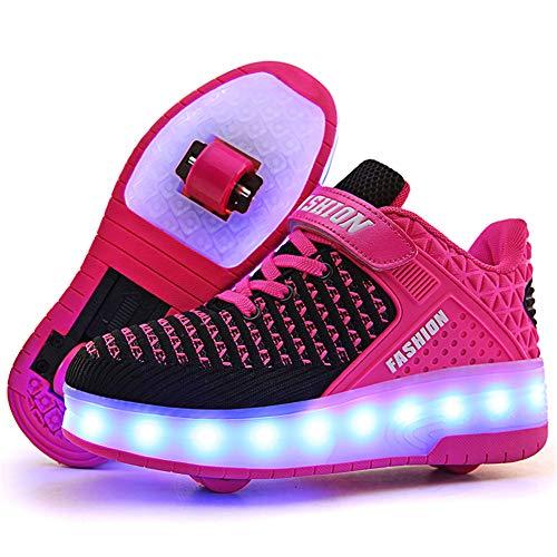 Led Luces Zapatos con Doble Ruedas para Pequeños Niños y Niña Automática...
