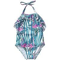 JLWF Bañador Infantil De Una One Pieza Flamingo Girl Bañador Flamingo-M