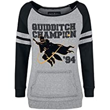 HARRY POTTER Quidditch Champion Sudadera Gris/Negro