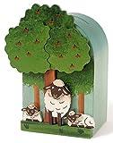 Weizenkorn Spardose Quader Schafe