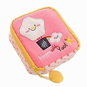 Sanwood Cute Cartoon Sanitary Napkin Towel Pads Small Bag Holder Organizer