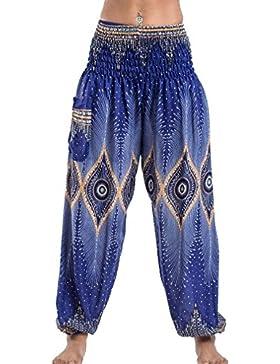 Pantalones Harén Elásticos Impresos Elásticos De Las Mujeres para Yoga, Código Medio (10 Diversos Colores)