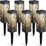 LETMY Solar Lights Outdoor, 6 Pack Garden Lights Solar Powered with Warm White LED Lights, Waterproof Solar Ornament Lights for Patio, Yard, Pathway Dusk to Dawn Auto On/Off