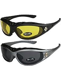 Choppers - Pack de 2 gafas de sol con acolchado en negro 0d7aab22ffa1