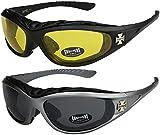 2er Pack Choppers 911 X06 Sonnenbrillen Motorradbrille Sportbrille Radbrille -