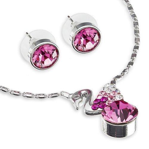 Janeo jewellery sets, under £40 uomo donna unisex bambino  silver rhodium  argento rodio     cristallo