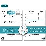 SinnWunder 2020 Premium-Kalendereinlagen - Wochenplan mit 1 Woche auf 2 Seiten - LetteringSinn - Din A5