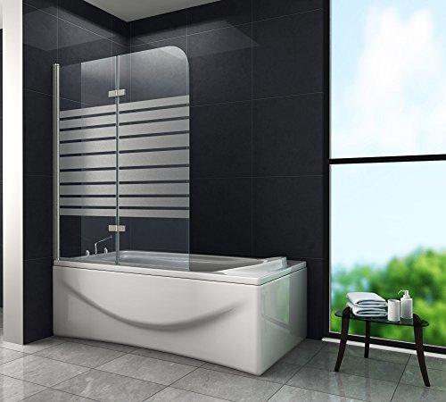 Duschtrennwand BREASE-FROST 120 x 140 (Badewanne)