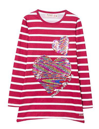Desigual TS_chivite, Camiseta para Niñas, (Sangria 3161), 164 (Talla del Fabricante: 13/14)