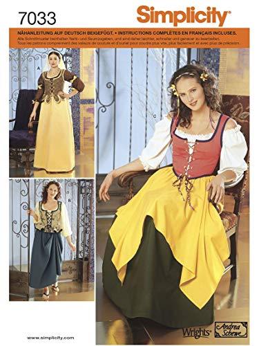 (Simplicity Schnittmuster 7033 P5 Kostüm Gr. 38-46)