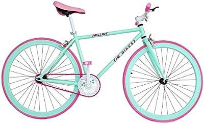 Wizard Industry Helliot Soho 5304 - Bicicleta fixie, cuadro de acero, frenos V-Brake, horquilla acero y ruedas de 26