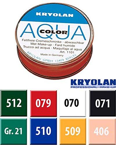 Kryolan KR1103/grün/Gr21–Aqua Color 55ml grün GR21 (Color-make-up Kryolan Aqua)