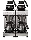Bonamat Matic Twin, Kaffeemaschine Festwasser inkl. 4 Kannen - Neues Design