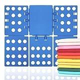 TianTu Wäsche Faltbrett, Einstellbar Kunststoff T Shirt Falter Folder Faltbrett Falthilfe für Shirt Pullis Kleidung Laundry Ordnen Zusammenleger (Blau)