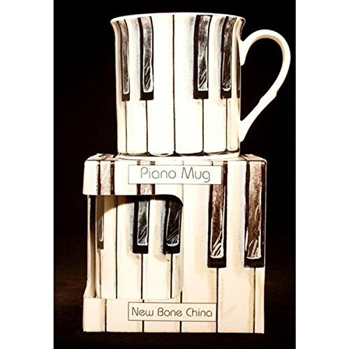 Fine China Coffee Mug - Piano Keys Design by Music (Sala Piano Music)