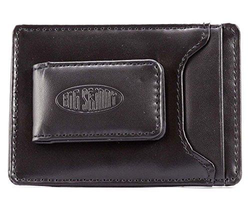 Big Skinny Herren Leder Magnetische Geld Clip Slim Wallet, hält bis zu 12Karten, - Slim-credit Wallet Womens Card