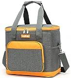 DCCN Kühltasche Isoliertasche Mittagessen Tasche Lunchtasche Kühlbox Picknicktasche Campingtasche Grau