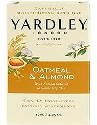 Yardley London - Pain de savon exfoliant Oatmeal & Almond (flocons d'avoine et amande) - Pour apaiser la peau...