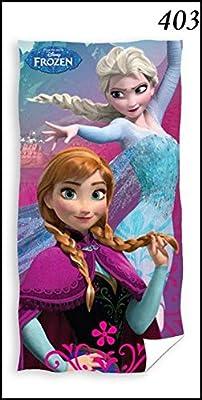 Toalla de baño, algodón, diseño de la película Frozen de Disney de Frozen Reine des des neiges