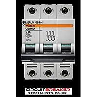 C60HC263  Schneider Merlin Gerin MCB Circuit Breaker  63A Double Pole Type C