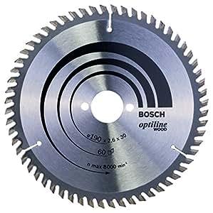 Bosch 2 608 641 188 Optiline Lama Circolare, 190x30, 60 Denti