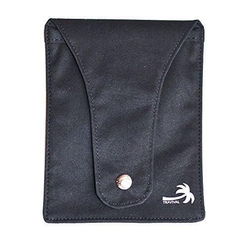 Bh Tasche Geheimfach Geheimtasche für den BH Kreditkartentasche Reisegeldbeutel Festivaltasche 10,5 x 13 cm