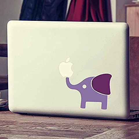 MairGwall Macbook Decal Mac Sticker Elephant Sticker Mac Cover Art Decor(Body:Hydrangea