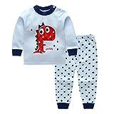 Set di pigiami per bambino, Meedot 2 pezzi Cotone manica lunga in inverno caldo indumenti da notte per bambini 0-5 anni