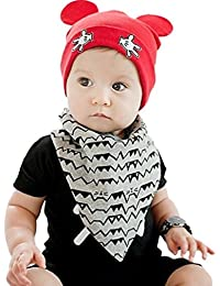 Ziory Baby Boy's and Baby Girl's Cotton Beanie Hat (Red, 17x15cm)