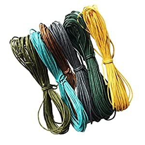 Segolike 10 Meter Waxed Cotton Cords Strings Ropes for DIY Necklace Bracelet Craft Making 6 Random Colors #2