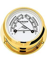 Comfortmeter Pirat II Messing Ø 96mm - Thermometer Hygrometer